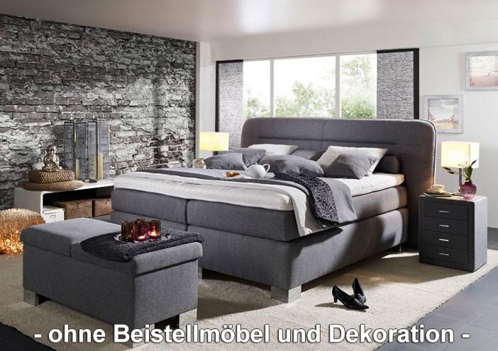 oschmann boxspringbett surpreme 180x200 cm stoff grau meliert h2 hersteller oschmann. Black Bedroom Furniture Sets. Home Design Ideas