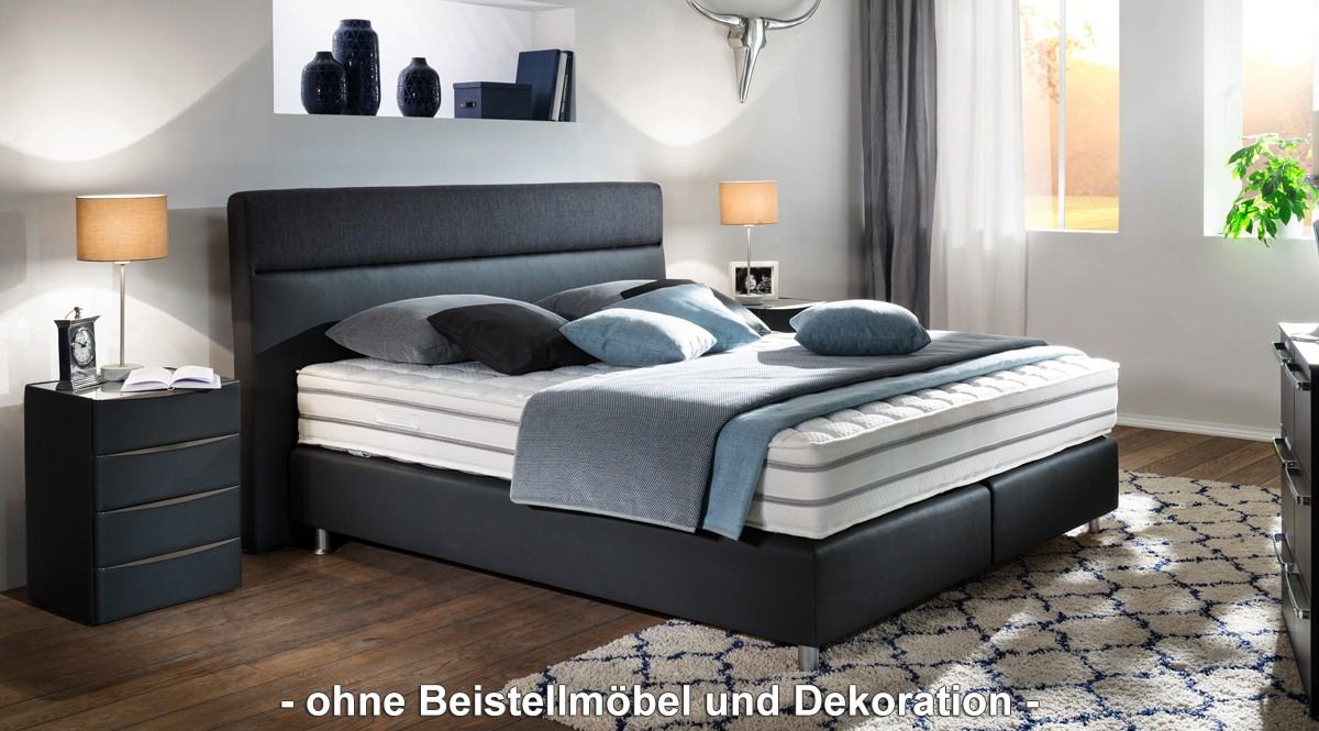 oschmann boxspringbett saria jubil um anthrazit 180x200 h3 hersteller oschmann boxspringbetten saria. Black Bedroom Furniture Sets. Home Design Ideas