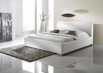Meise Polsterbett Alto Comfort in Kunstleder weiß 180x200 cm