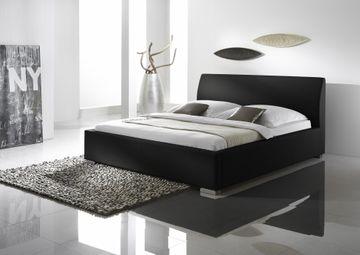 Meise Polsterbett Alto Comfort in Kunstleder schwarz 200x200 cm