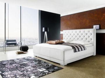 Meise Polsterbett Pisa in Kunstleder weiß 180x200 cm – Bild 1