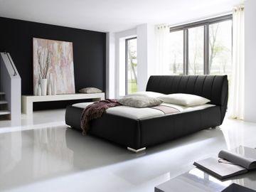 Meise Polsterbett Bern in Kunstleder schwarz 180x200 cm, inkl. Bettkasten, Federholzrahmen – Bild 1