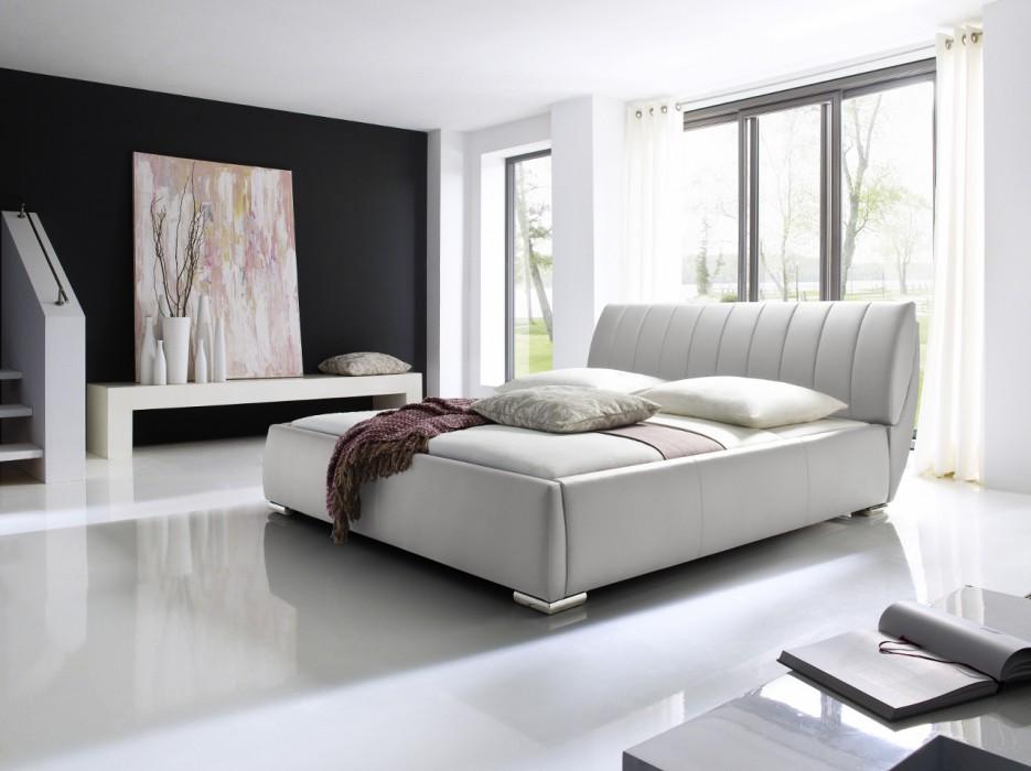 Meise Polsterbett Bern In Kunstleder Weiß 180x200 Cm Inkl