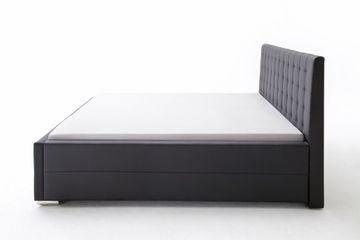Meise Polsterbett Toronto in Kunstleder schwarz 180x200 cm, inkl. Bettkasten, Federholzrahmen – Bild 11