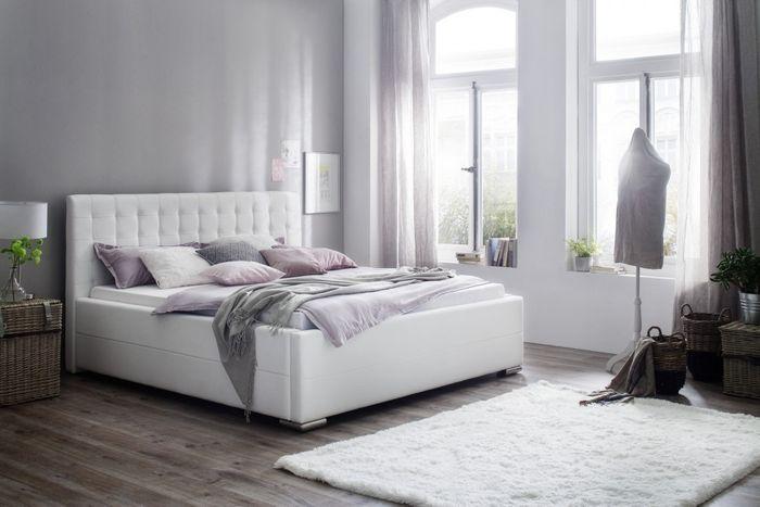 meise polsterbett toronto in kunstleder wei 180x200 cm inkl bettkasten federholzrahmen. Black Bedroom Furniture Sets. Home Design Ideas