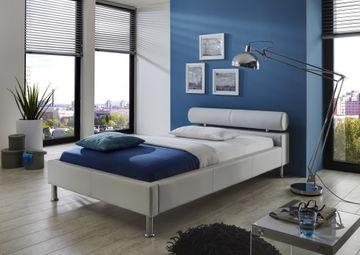 Meise Polsterbett Anello in Kunstleder weiß 100x200 cm – Bild 1