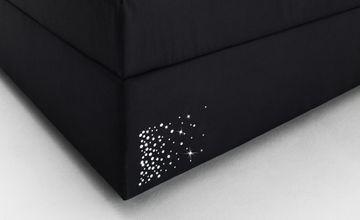 Meise Boxspringbett Stella -  Stoff schwarz mit Swarovskikristallen - 180x200cm - H3 - inkl. Topper - Lagerware! – Bild 6