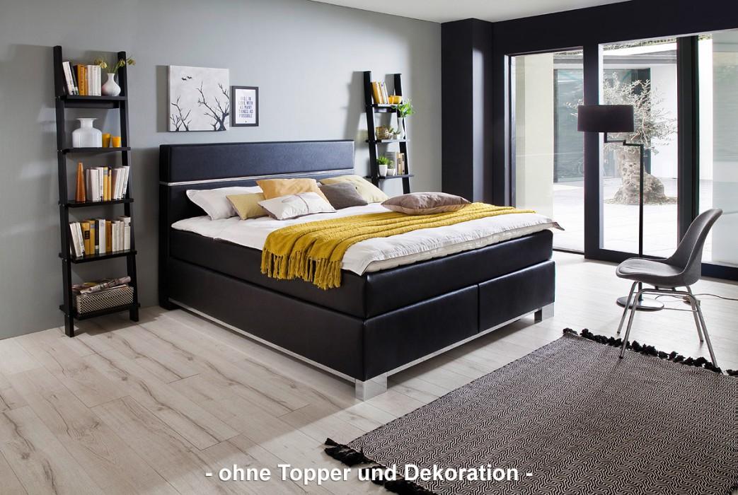 meise boxspringbett indigo kunstleder schwarz 180x200 cm h3 schlafen boxspringbetten 180 x. Black Bedroom Furniture Sets. Home Design Ideas