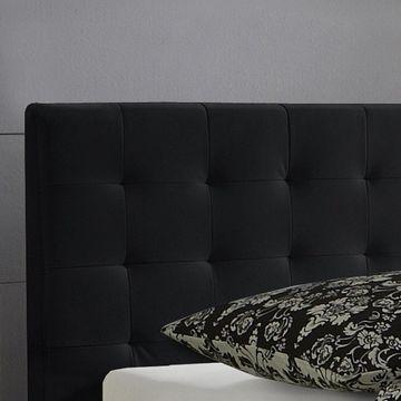 Meise Polsterbett Sandra in Kunstleder schwarz 100x200 cm – Bild 2