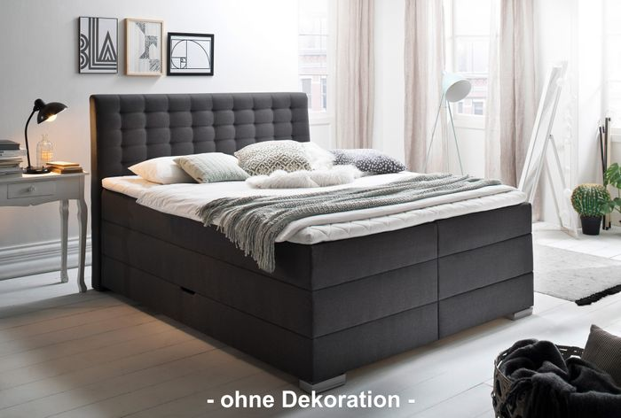 meise boxspringbett lenno anthrazit hugo 95 mit. Black Bedroom Furniture Sets. Home Design Ideas