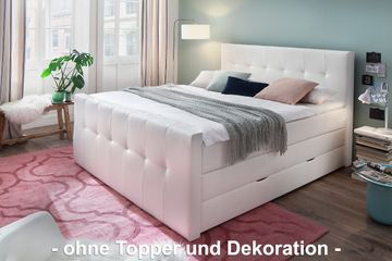 meise boxspringbett star mit bettkasten kunstleder wei. Black Bedroom Furniture Sets. Home Design Ideas