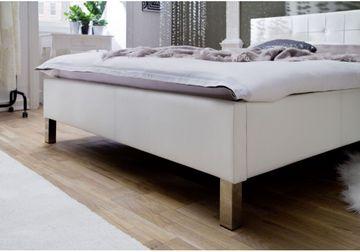 Meise Polsterbett Cristallo in Kunstleder weiß 160x200 cm – Bild 2