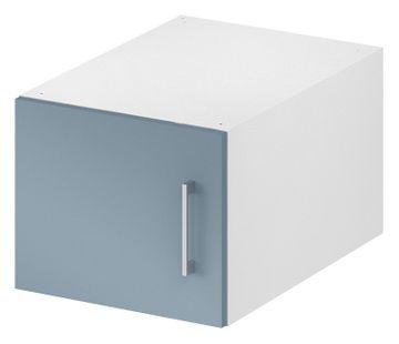 Wellemöbel KleiderSchrankWunder Aufsatz 30x32x57 cm, 81340, Alpinweiß / Pacific Blau Hochglanz – Bild 1