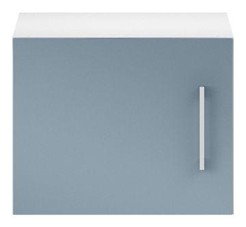 Wellemöbel KleiderSchrankWunder Aufsatz 40x32x57 cm, 81341, Alpinweiß / Pacific Blau Hochglanz – Bild 2