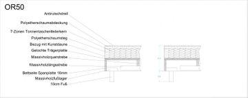 ADA premium Boxspringbett Oriental braun 160x200 cm – Bild 4