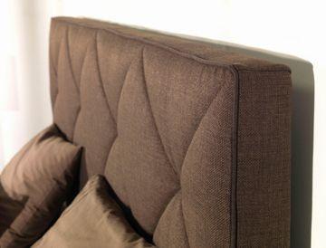 ADA premium Boxspringbett Oriental braun 200x200 cm – Bild 2