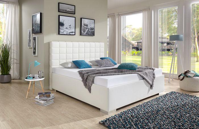breckle polsterbett baxter comfort kunstleder wei 160x200 cm schlafen polsterbetten 160 x 200 cm. Black Bedroom Furniture Sets. Home Design Ideas