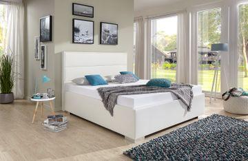 Breckle Polsterbett Range Comfort Kunstleder weiß 120x210 cm
