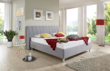 Breckle Polsterbett Jackson Comfort grau 120x220 cm