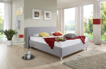 Breckle Polsterbett Tyree Comfort grau 100x210 cm