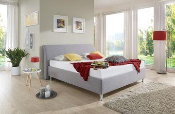 Breckle Polsterbett Tyree Comfort grau 180x220 cm