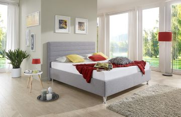 Breckle Polsterbett Melbourne Comfort grau 120x220 cm