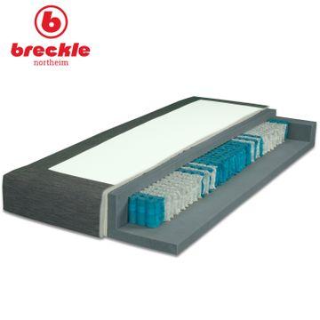 Breckle Boxspringbett Arga Preime 140x200 cm inkl. Topper 3700 (Gelschaum) und Kissenset – Bild 3