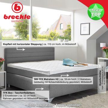 Breckle Boxspringbett Arga Top 180x220 cm inkl. Topper – Bild 2