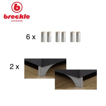Breckle Boxspringbett Arga Best 200x200 cm inkl. Gel-Topper – Bild 7