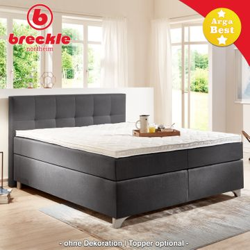 Breckle Boxspringbett Arga Best 140x220 cm inkl. Gel-Topper