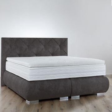 Breckle Boxspringbett Arga Palace 120x210 cm inkl. Gel-Topper Platin Premium – Bild 7