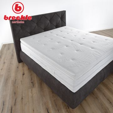 Breckle Boxspringbett Arga Palace 140x210 cm inkl. Gel-Topper Platin Premium – Bild 3