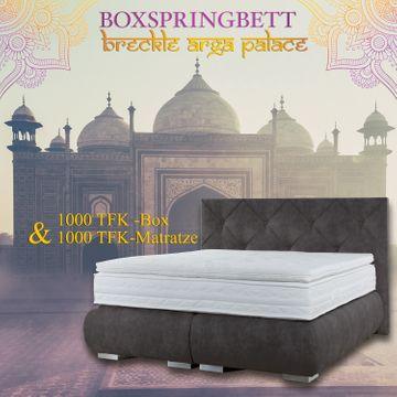 Breckle Boxspringbett Arga Palace 200x210 cm inkl. Gel-Topper Platin Premium – Bild 8