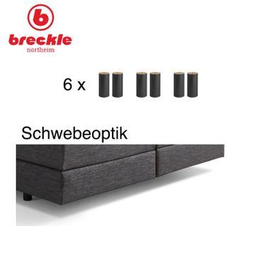 Boxspringbett Shan Basic 180x200 cm - inkl. Kissenset - inkl. Komfortschaum-Topper  – Bild 5