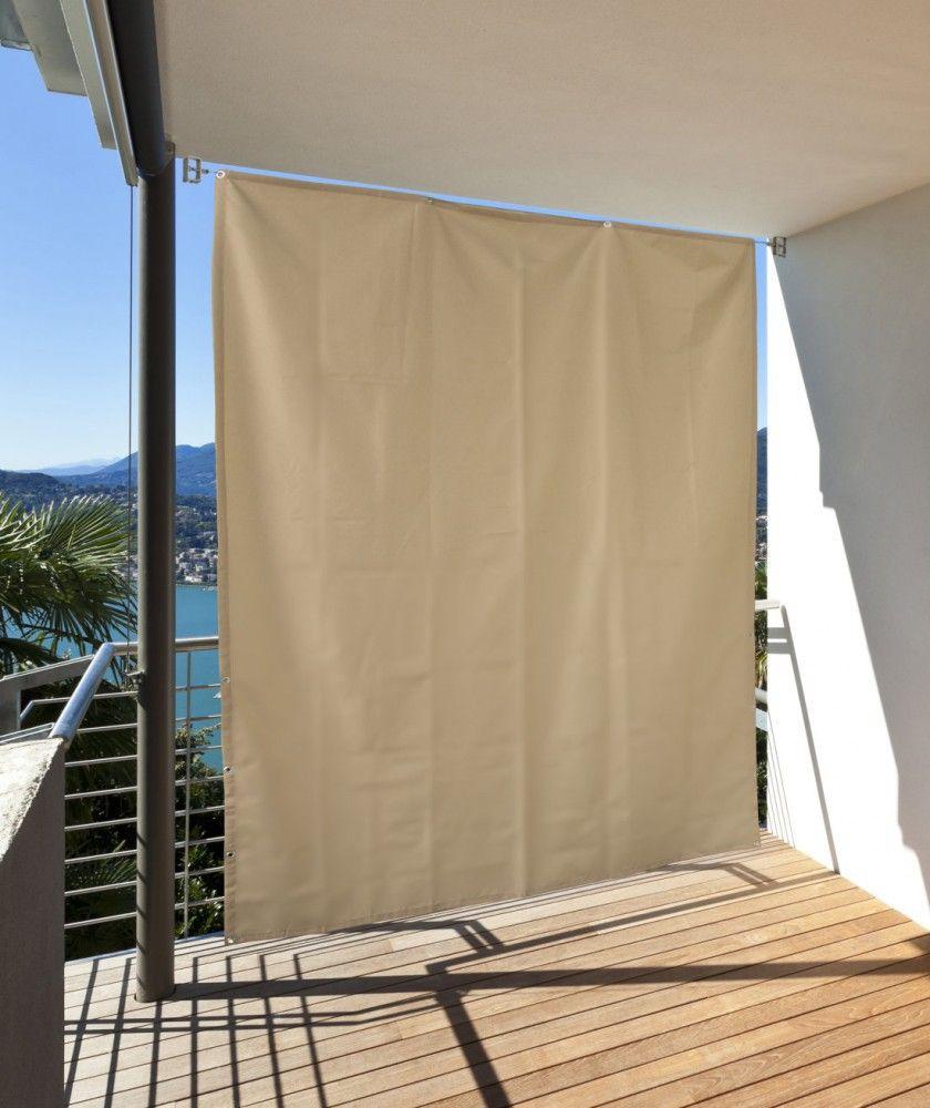 Vertikaler Sonnenschutz Windschutz Sichtschutz Balkon Terrasse Creme