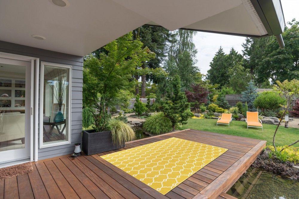 Super Outdoor-Teppich für Terrasse / Balkon gelb Vitaminic Trellis ZJ54