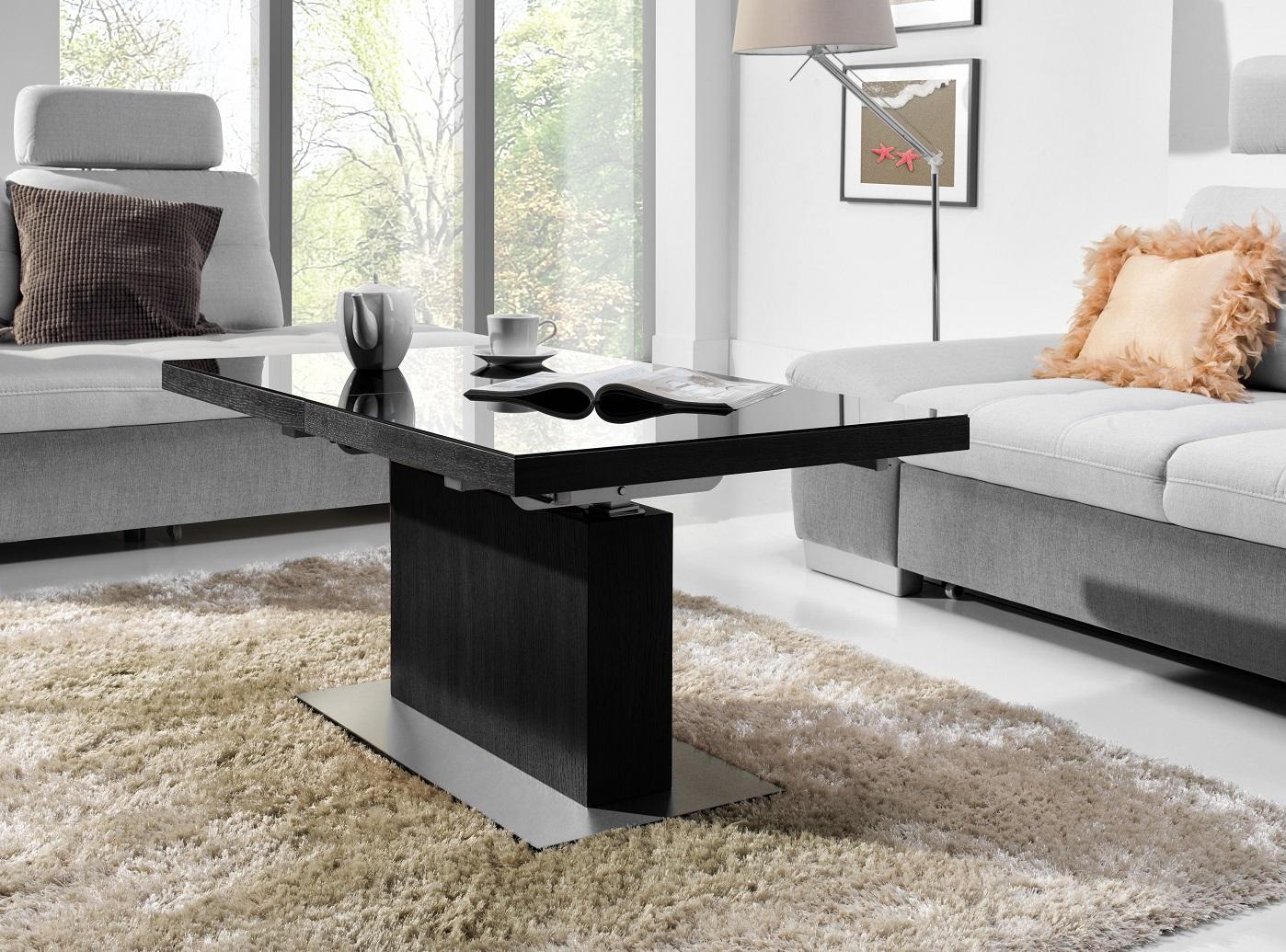 couchtisch mn 3 schwarz seidenmatt schwarzglas. Black Bedroom Furniture Sets. Home Design Ideas