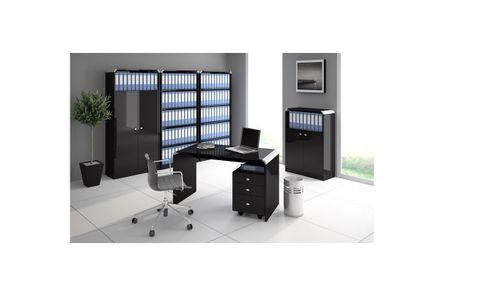 Schreibtisch Bürotisch HB-111 Schwarz Hochglanz Highgloss Tisch 100cm