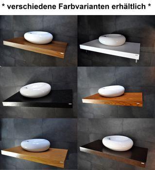 Bild 8 - Waschtisch Waschtischplatte Nussbaum / Walnuss mit Handtuchhalter WT-60H Carl Svensson