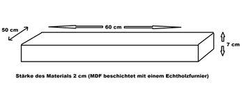 Bild 6 - Waschtisch Waschtischplatte Waschkonsole Teak mit Handtuchhalter WT-60H Carl Svensson