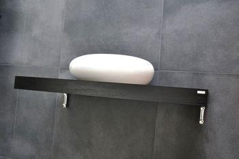 Bild 3 - Edler Waschtisch Waschtischplatte Waschkonsole Schwarz Handtuchhalter WT-60H Carl Svensson