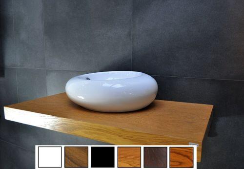 Edler Waschtisch Waschtischplatte Waschkonsole Eiche inklusive Handtuchhalter WT-60H Carl Svensson