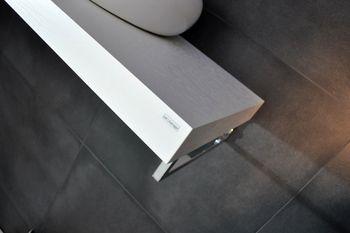 Bild 4 - Edler Waschtisch Waschtischplatte Weiß mit Handtuchhalter WT-80H Carl Svensson