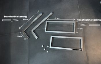 Bild 6 - Edler Waschtisch Waschtischplatte Teak inklusive Handtuchhalter WT-80H Carl Svensson