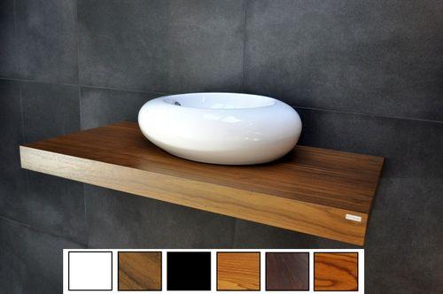 Edler Waschtisch Waschtischplatte Nussbaum / Walnuss inklusive Handtuchhalter WT-100H Carl Svensson