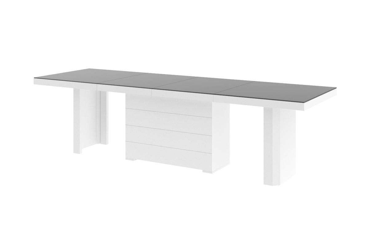 design esstisch he 777 anthrazit matt wei hochglanz kombination ausziehbar 140 188 236. Black Bedroom Furniture Sets. Home Design Ideas