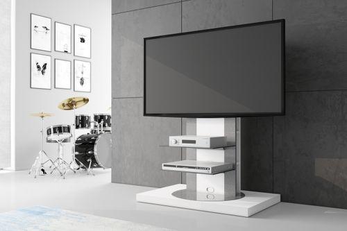 Design tv möbel drehbar  Fernsehtisch Roma H-777nw Weiß Hochglanz 360° drehbar TV Möbel LCD ...