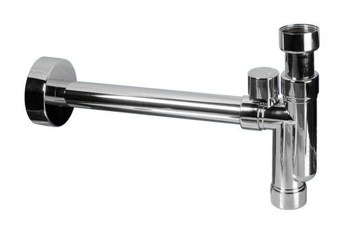 "Design Siphon Sifon McAlpine CAT32V-CB mit Reinigungsöffnung und Belüftung 1 1/4"" 32mm Abgang"