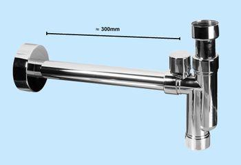 """Bild 2 - Design Siphon Sifon McAlpine CAT32V-CB mit Reinigungsöffnung und Belüftung 1 1/4"""" 32mm Abgang"""