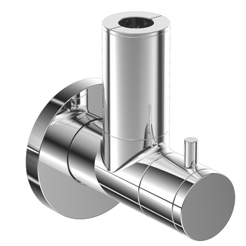 Design Eckventil mit Schmutzfilter und keramischen Dichtungen ANGVAL-F-CP 1/2 x 10mm